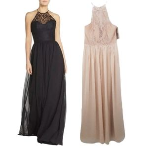 NWT Hayley Paige Occasions Blush Lace Dress Gown